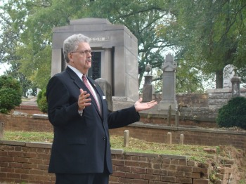 Howard Mathis portrays Isaac May in last year's Myrtle Hill cemetery tours.